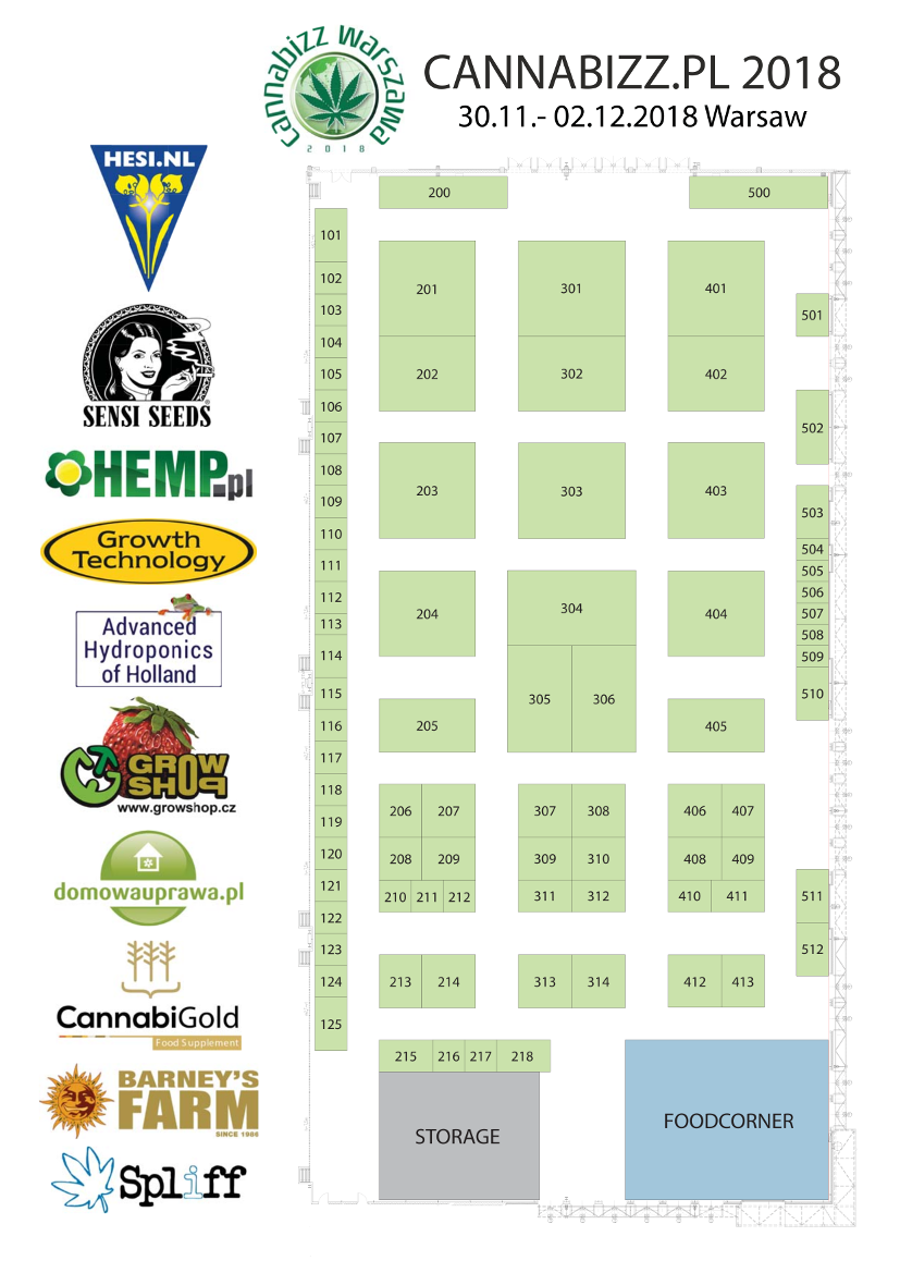 Cannabizz.pl 2018 Booking Map