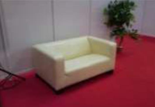 Przykładowe zdjęcie sofy na czerwonym dywanie
